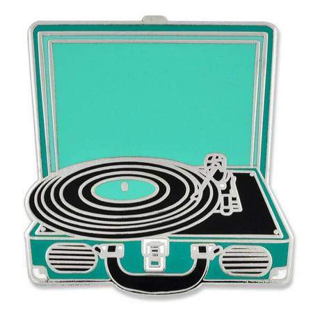 Retro Vinyl Record Player Music Trendy Enamel Lapel Pin - Music Pins