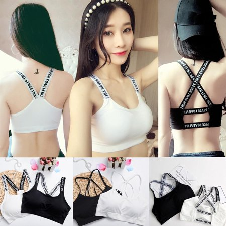f26379cae63 Women Spaghetti Strap Back Hollow Out Bra with Padded Boob Tube Top ...