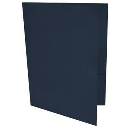 9 x 12 Presentation Folders - Nautical Blue Linen (500 Qty.)