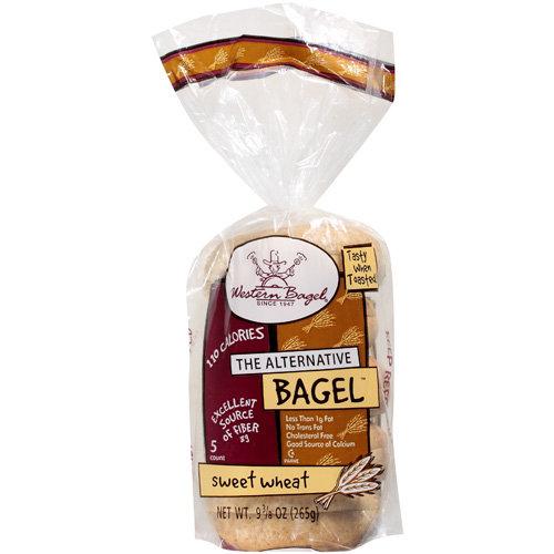 Western Bagel Sweet Wheat Bagels, 5 ct, 10 oz
