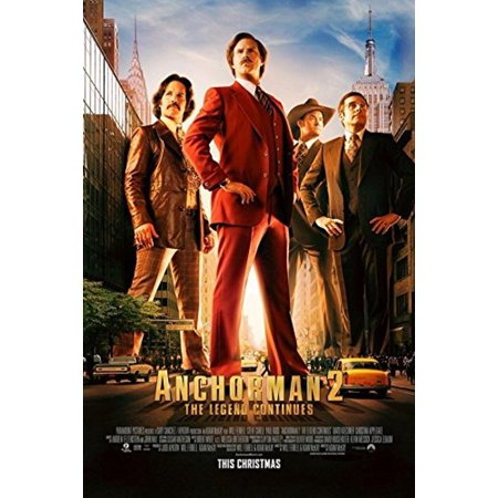 Anchorman 2 Ron Burgundy The Legend Continues 36x24 Movie Art Print Poster Will Ferrel Steve Carell Paul Rudd