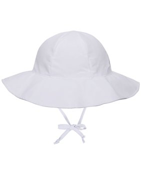 11698af9 Product Image Girls UPF 50+ UV Sun Ray Protection Hat Bucket Baby Sun Hat  White