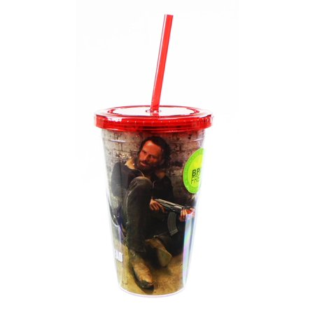 The Walking Dead Rick Grimes 16oz Carnival (Carnival Glass Cup)