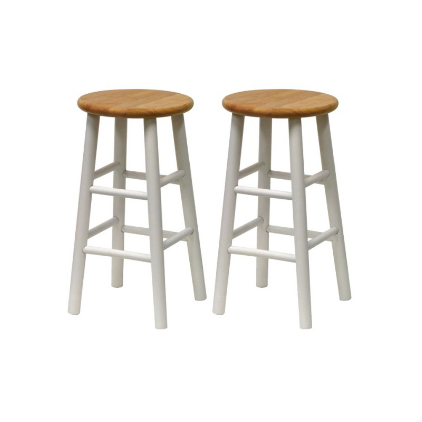 Winsome Wood Tabby 24 Beveled Seat Stools Set Of 2 Multiple