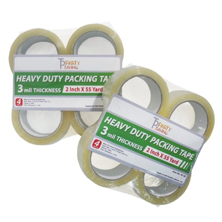 "- Loadstone Studio, 8 Rolls,  Heavy Duty Shipping Packing Tape 2"" x 55 Yards 3 Mil Thick Value Bundle , WMLS2558"