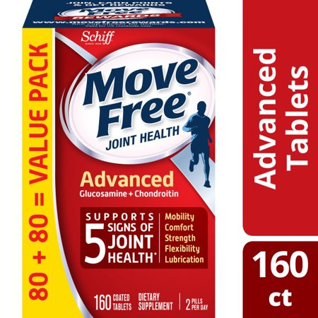 Move Free Advanced Value Pack - 160 Tablets - Joint Health Supplement with Glucosamine and