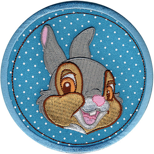Disney Thumper in Circle Iron-On Applique