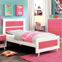 Furniture of America  Kude Modern Pink Full Youth Platform Bed
