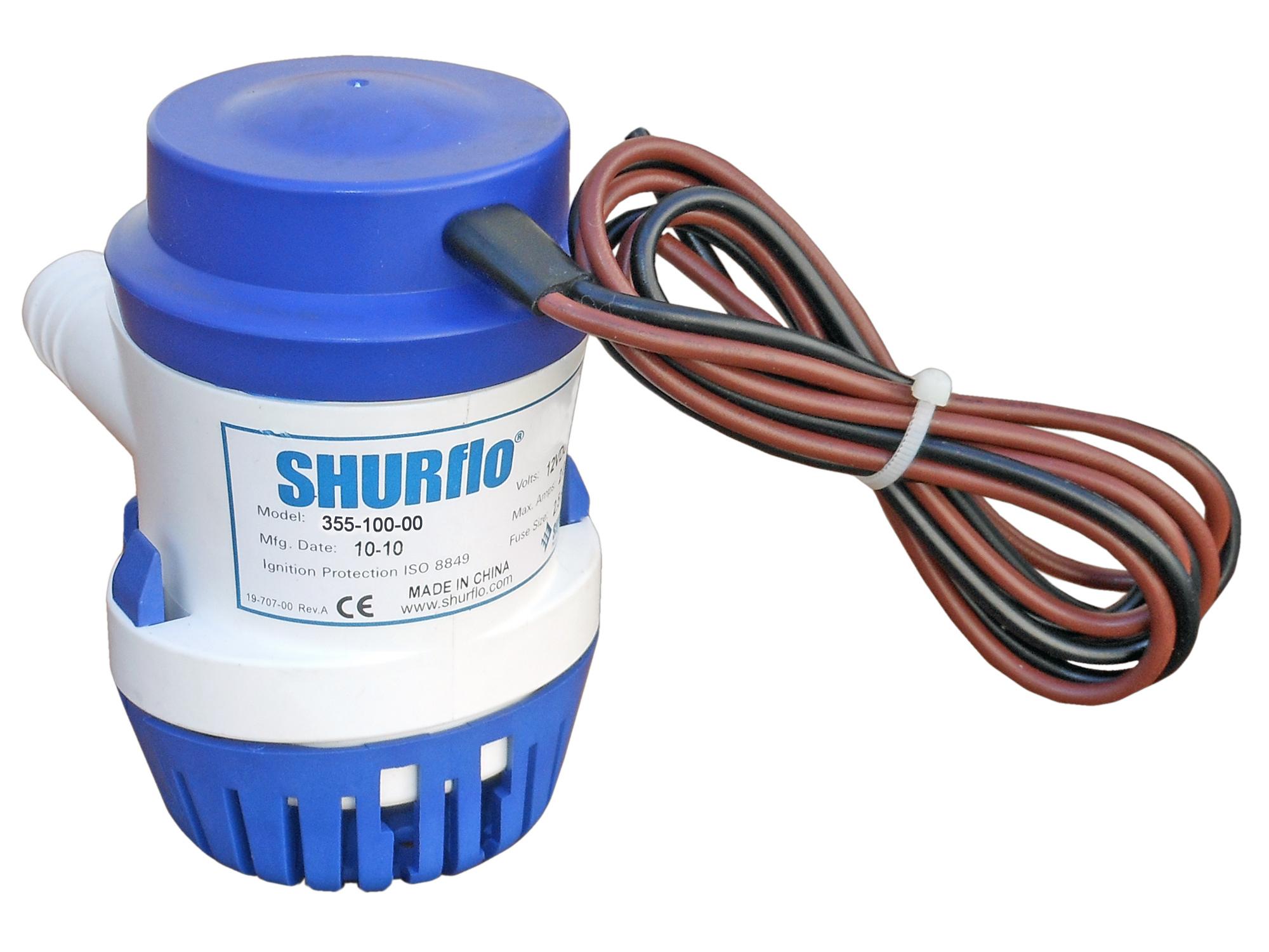 Marine Electric Bilge Pump for Boats Caravan & Rv-1000 Gph 12v Shurflo by