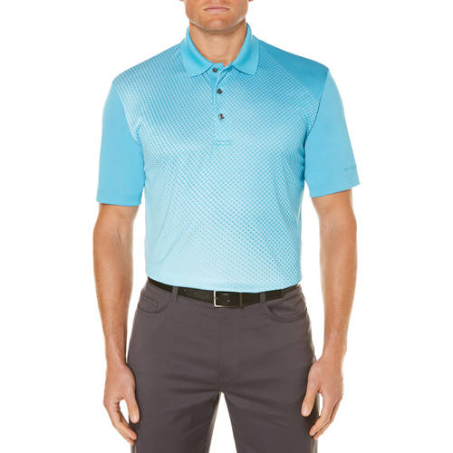 Men's Performance Short Sleeve Fading Printed Polo