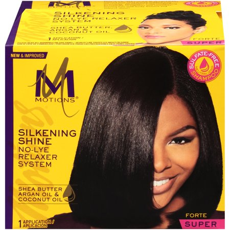Motions Hair Relaxer - Motions Super Silkening Shine No-Lye Relaxer System Box