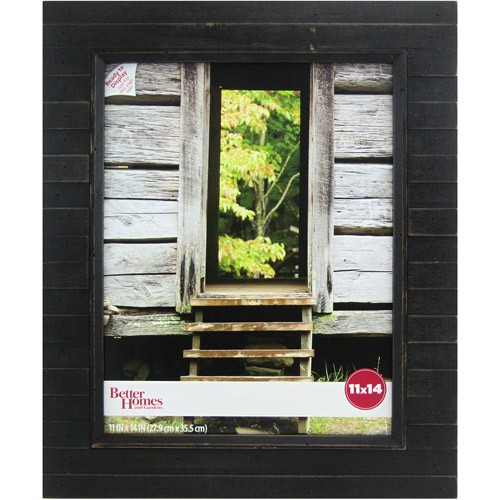 Better Homes and Gardens Timbermound 11x14 Distressed Black Picture Frame