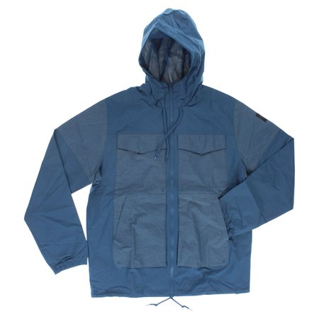 Adidas Mens Skateboarding Rider Wind Jacket Blue