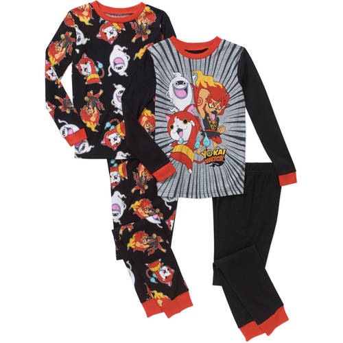 Boys' Licensed 4 Piece Cotton Pajama Sleepwear Set, Available in 13 Characters