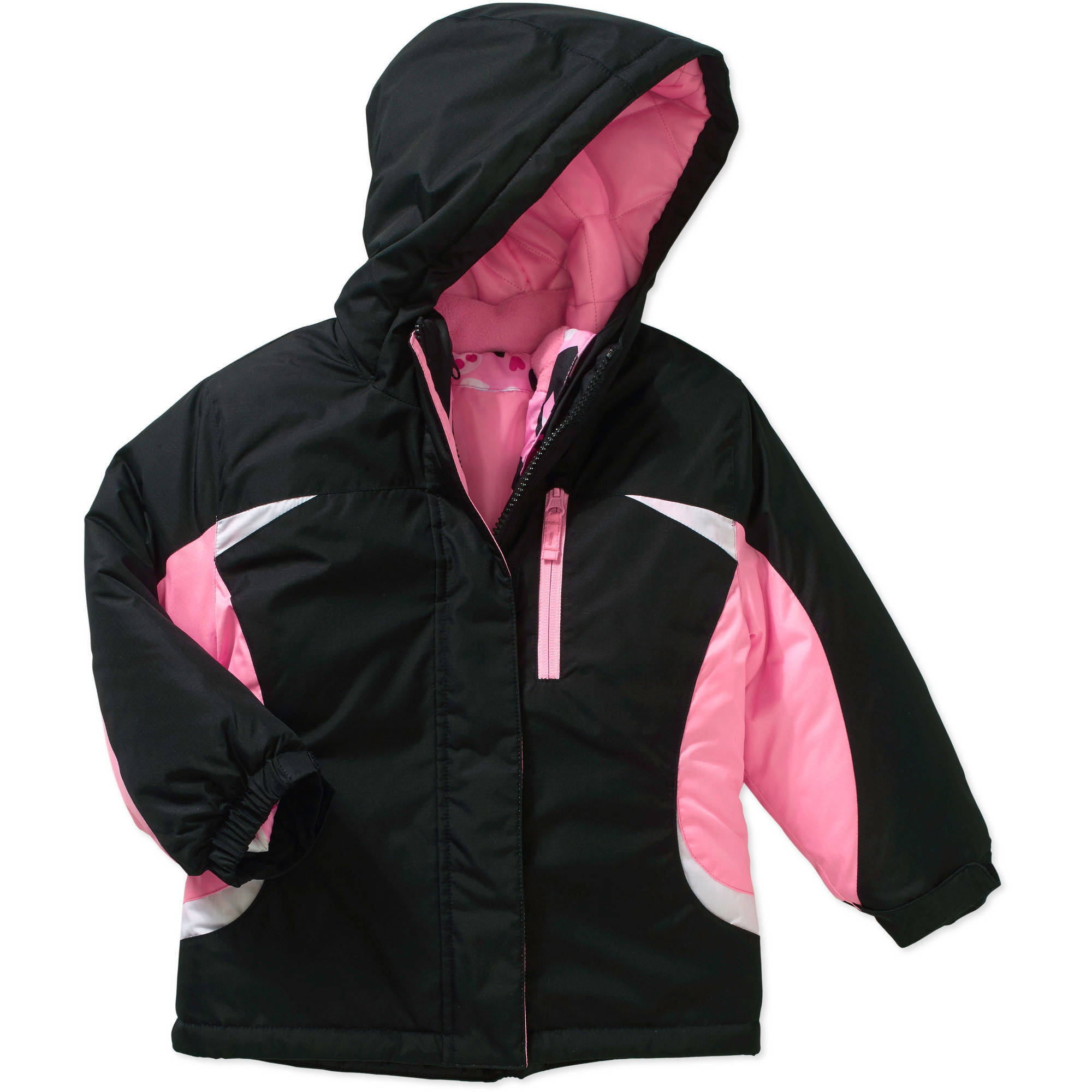 Healthtex Baby Toddler Girls' 3 in 1 Ski/Snowboard Jacket with Removable Inner Layer