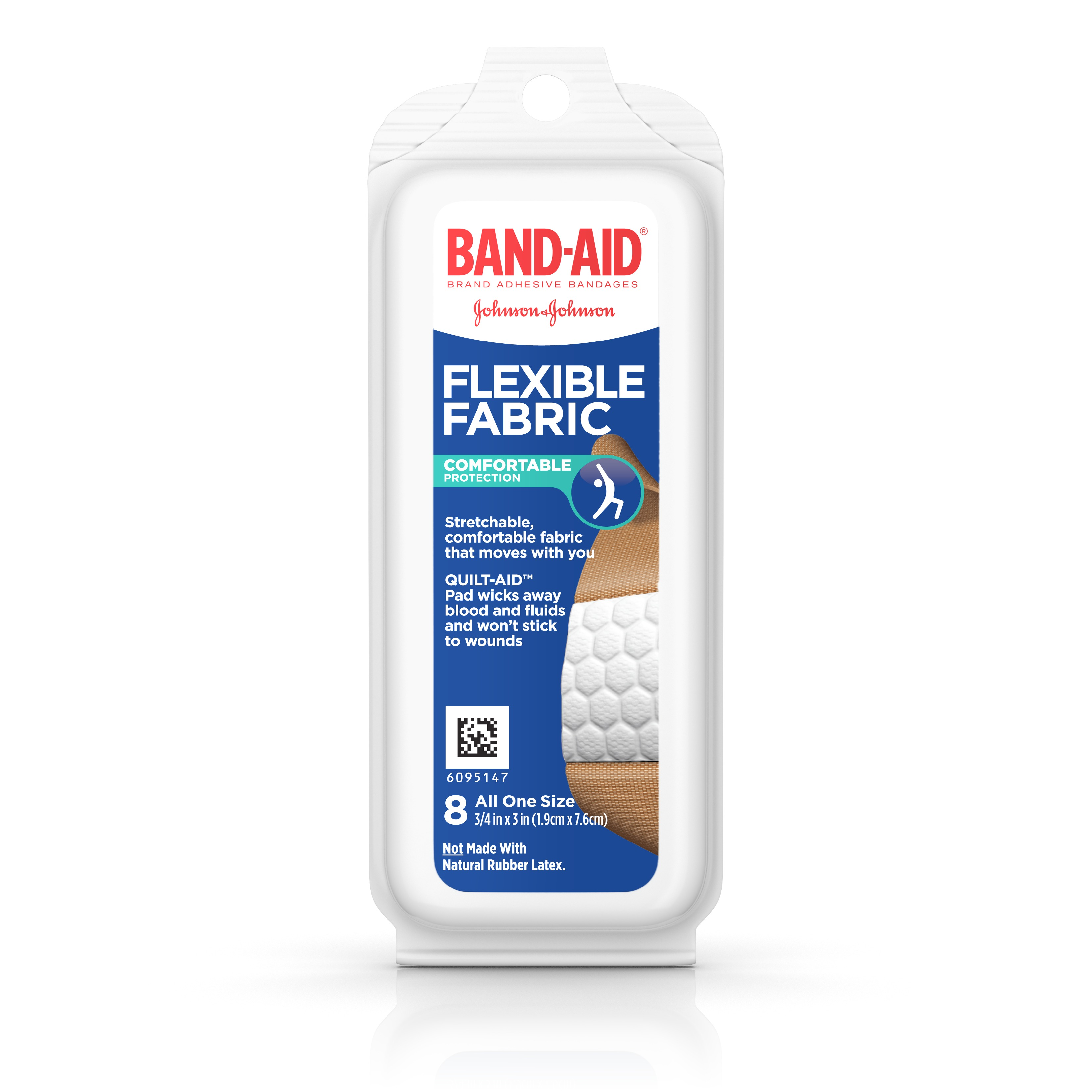 Band-Aid Brand Flexible Fabric Adhesive Bandages, Travel Pack, 8 ct