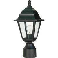 1 Light - 14 in. Post Lantern - Clear Glass