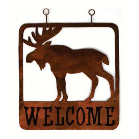 Gift Essentials Moose Square Welcome Sign Decor - Welcome Gift