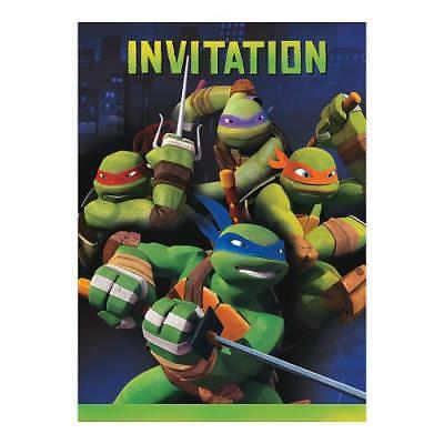 Teenage Mutant Ninja Turtles Birthday Invitations (IN-13630434 Teenage Mutant Ninja Turtles Party Invitations 8 Piece(s))