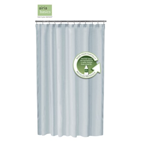 Image of Airia Basics Recycled Fabric Shower Liner, Slate Blue