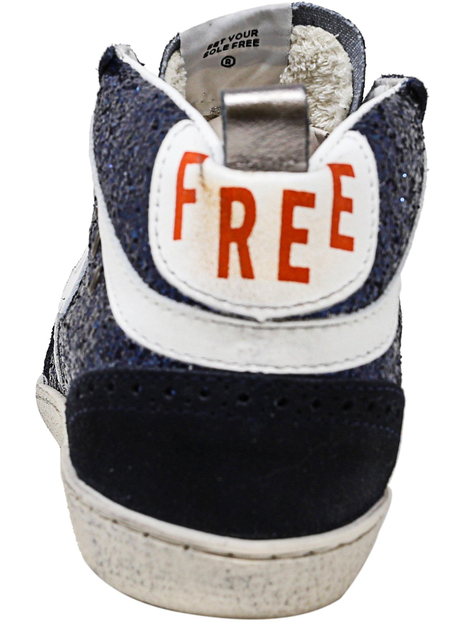 Freebird By Steven Women's Fb-516 Navy - Mid-Top Leather Fashion Sneaker - Navy 8M 72c406