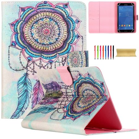 Uucovers 7 Inch Universal Protective Cartoon Case For Samsung Galaxy Tab A 7 0 Tab 4 7 0 Tab 3 Lite Tab J 7 0 Amazon Kindle Fire7 2015 Google Nexus 7 And More 6 5  7 5 Inch Tablet  Tribal Windbell