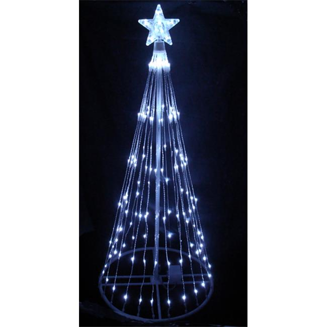 NorthLight 6 ft. Pure White LED Light Show Cone Christmas ...