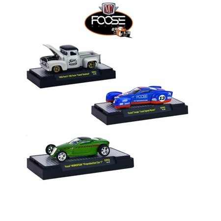 1 by 64 Chip Foose with Case Diecast Model Car, Set of