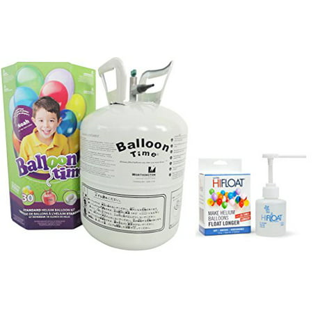 Balloon Time Disposable Helium Kit  8 9 Cu Ft With Ultra Hi Float   Party Balloons Will Float For Several Day