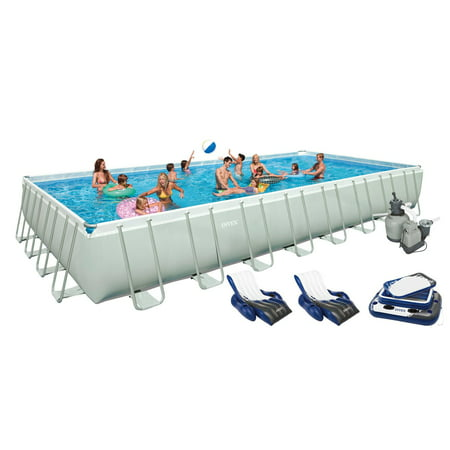 Intex 32 39 X 16 39 X 52 Ultra Frame Rectangular Swimming Pool Set 28371eg