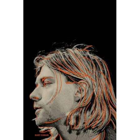 Kurt Cobain Poster Wall Art (Kurt Cobain Grunge)
