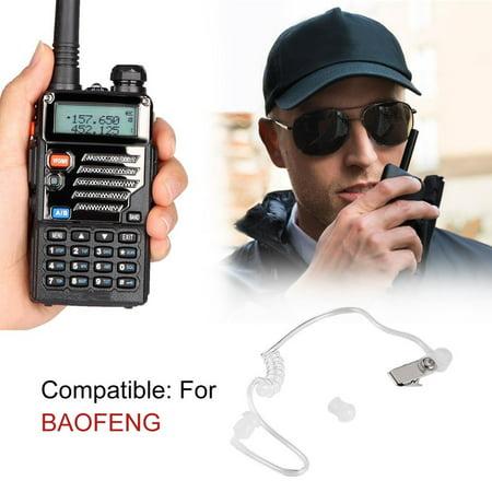 2 Pin Ptt Air Tube Earphone Headset Walkie Talkie Two Way Radio For Baofeng