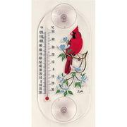 Aspects Cardinal-Dogwood Window Thermometer