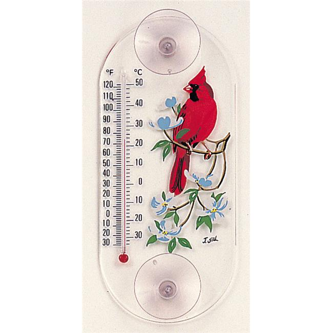 Aspects Cardinal-Dogwood Window Thermometer