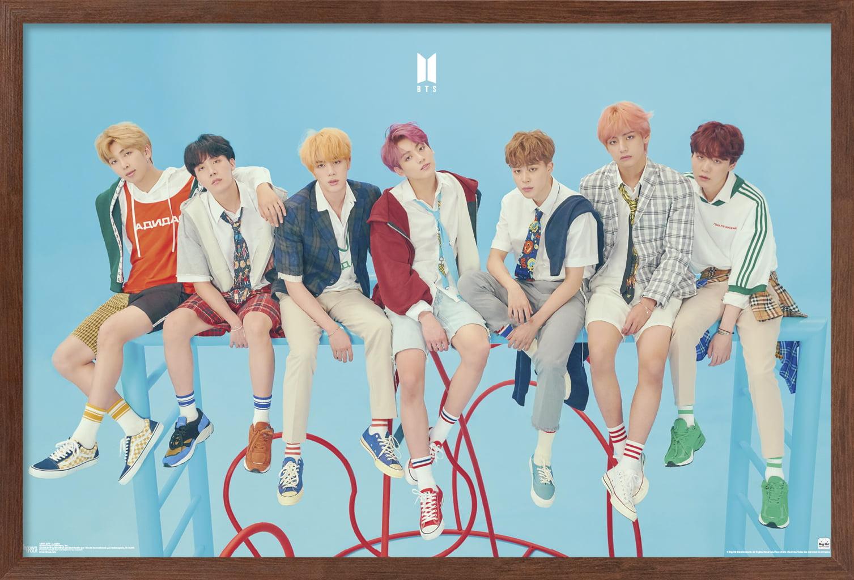 Custom Personalized BTS Bangtan Boys Silk Poster Wall Decor