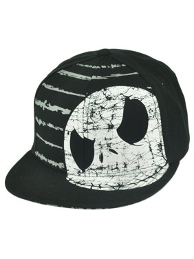 62b90d7af59f3 Product Image Nightmare Before Christmas Jack Skellington Snapback  Distressed Faces Hat Cap