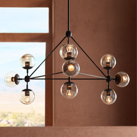 Possini Euro Design Black Large Chandelier 40
