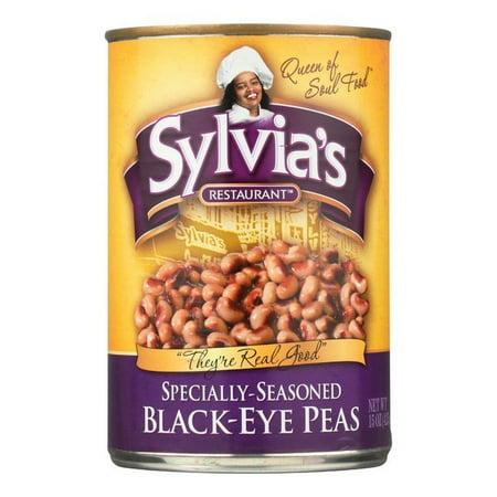 Sylvia's Black Eye Peas - Seasoned - pack of 12 - 15 (The Best Black Eyed Peas)