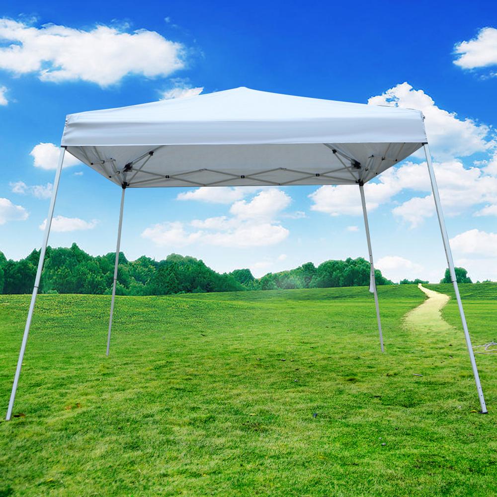 eWarehouseDirect EZ POP UP Wedding Party Tent Folding Gazebo Beach Canopy W Carry Bag 10'x10' New by