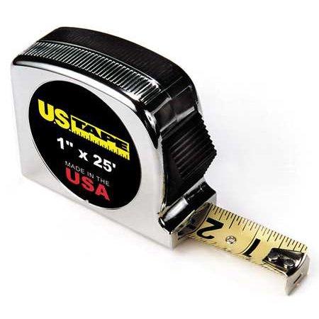 25 ft. Tape Measure, 1 Blade, Chrome US TAPE Anchor Chrome Clad Tape Blade