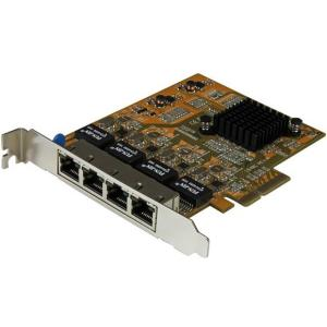 Star Tech 4-Port PCIe Gigabit Network Adapter Card