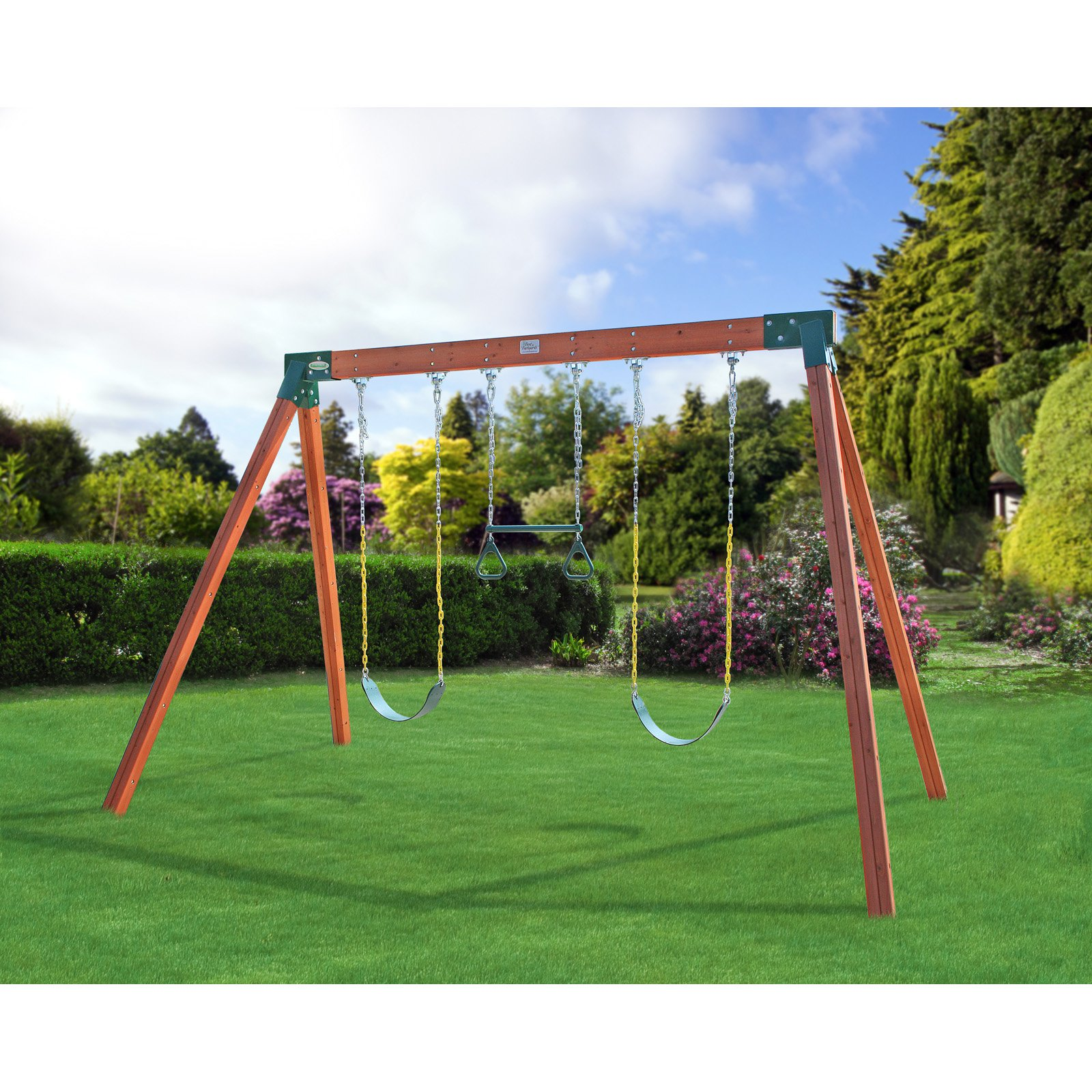 Eastern Jungle Gym Classic A-Frame Cedar Swing Set with Lumber
