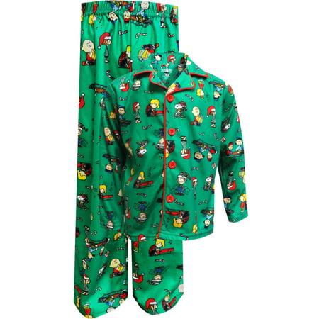 peanuts big boys green christmas pajamas m8 walmartcom