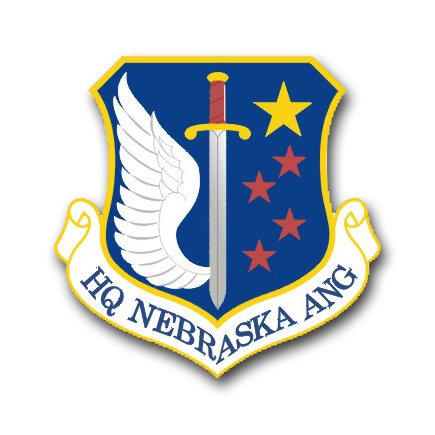 3.8 Inch Air Force Headquarters Nebraska Air National Guard Vinyl Transfer Decal