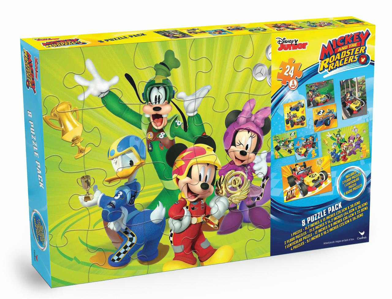 <p>Disneys Mickey and the Roadster Racers 8-Pack Puzzle Box< p> by Spin Master Ltd