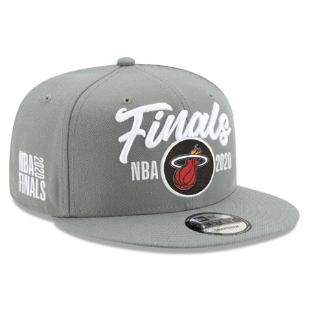Miami Heat New Era 2020 NBA Finals Bound Locker Room 9FIFTY Snapback Adjustable Hat - Gray