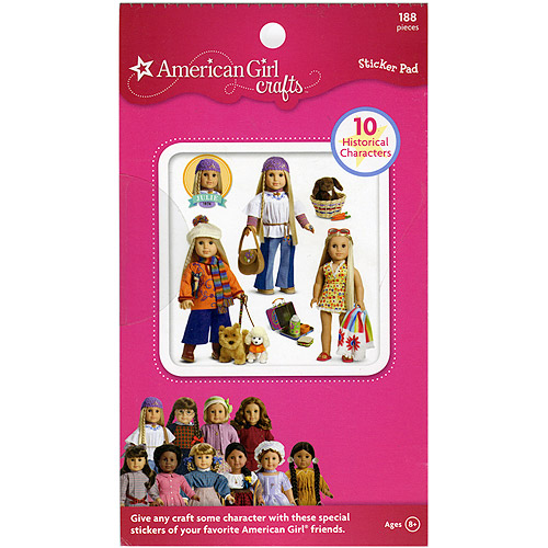 American Girl Sticker Pad, Historical Dolls