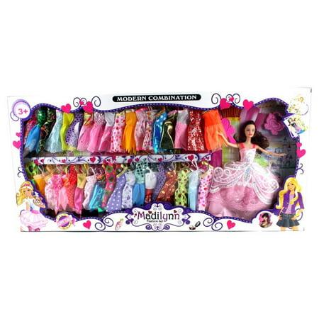 Muñeca Set de juego de Modern Madilynn Niños Niños juguete de moda w - la muñeca vestidos accesorios surtidos
