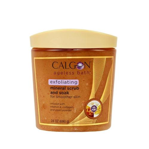 Calgon Ageless Bath Mineral Scrub and Soak, 24 oz (Pack of 3)