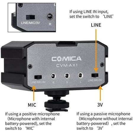 4 Cam/éra COMICA CVM-GPX C/âble audio de 3,5 mm Adaptateur de c/âble pour microphone pour Gopro Hero 3 3